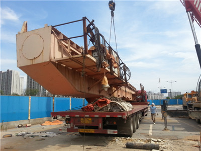 大型门吊拆机运输 超长22米